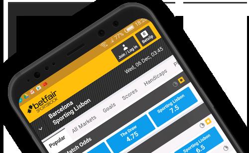 Мобильное приложение на Android в букмекерской конторе Betfair